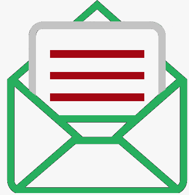 56230 opened email outlined interface symbol